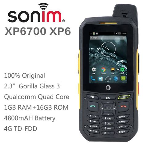 Rugged 3g Phone by 100 Original Sonim Xp6 Cell Phone Rugged Android