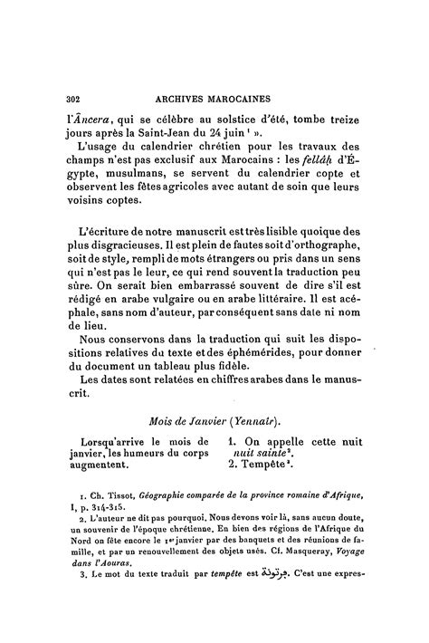 Calendrier Agricole Berbere Archives Marocaines Volume 03 1905 Page 310