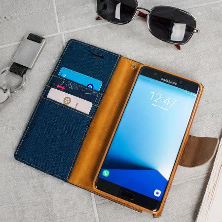 Goospery Iphone 7 Plus Canvas Diary Navy mercury canvas diary samsung galaxy note 7 wallet