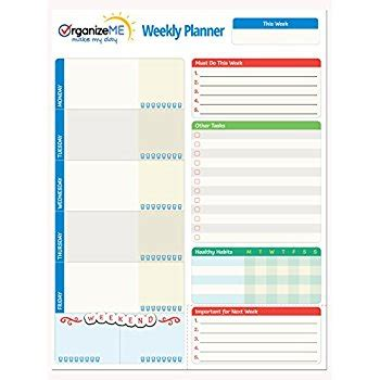 printable planner pad pages amazon com organizeme daily planner and day organizer to