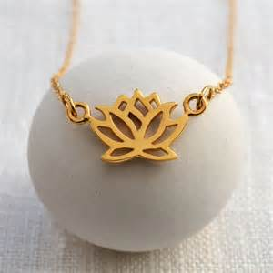 Lotus Flower Necklace Gold Lotus Flower Necklace By Charmed