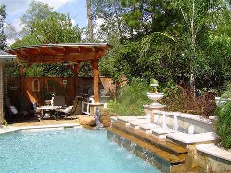 Ideas For Backyard by Relaxing Backyard Ideas 171 Woodlands Pool Builder