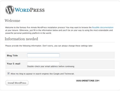 setup xp for wordpress how to install wordpress on your computer gadgetcage