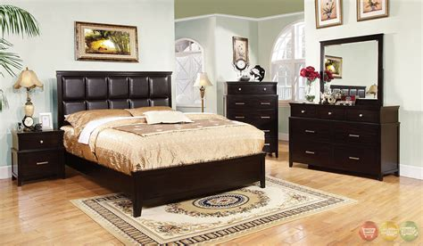 espresso bedroom sets butler contemporary espresso bedroom set with leatherette