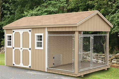 dog house with kennel dog kennels eberly barnseberly barns