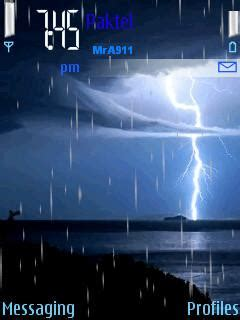 animated themes for nokia 110 free download animated rain mobile theme