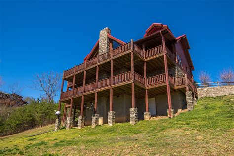 2 Bedroom House by A Cabin Of Dreams Luxury Chalet In Pigeon Forge Tennessee With Tub Pool Table Great Views
