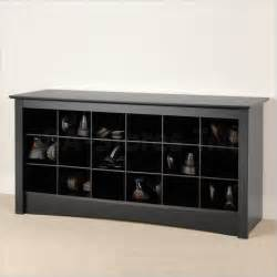 Entry Way Shoe Rack by Prepac Shoe Storage Cubbie Bench Black Coat Amp Shoe