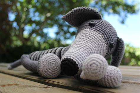 amigurumi greyhound pattern relaxing greyhound crochet toys amigurumi pinterest