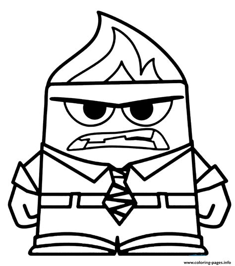 coloring page of anger from inside out anger coloring pages printable