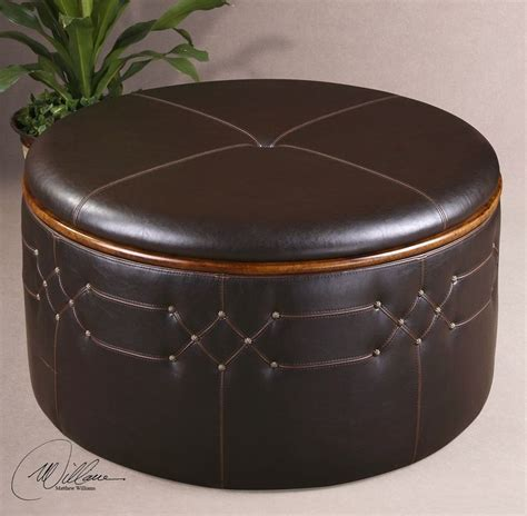 coffee tables ideas round leather coffee table ottoman best 25 leather ottoman with storage ideas on pinterest