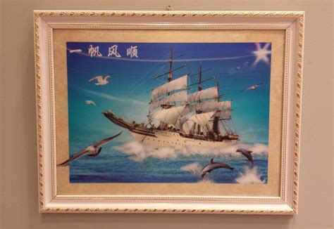 wal schip 3d ship wall painting with frame end 7 2 2017 6 15 pm