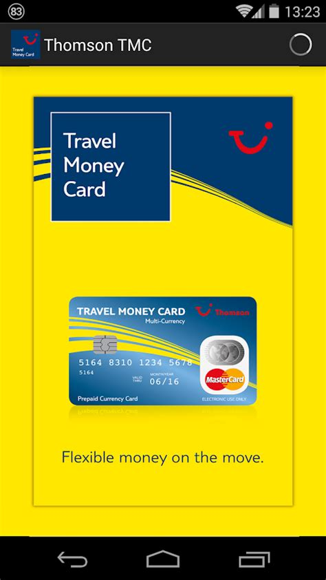 Thomson Gift Card - thomson travel money card android apps on google play