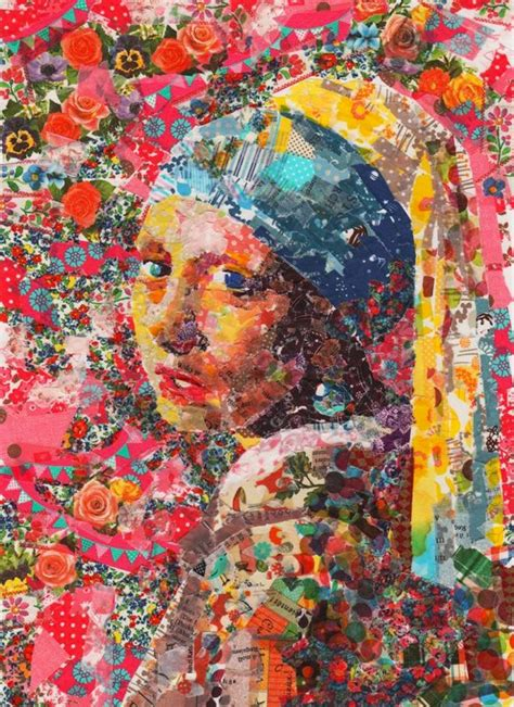 famous art paintings famous paintings recreated with colorful masking tape