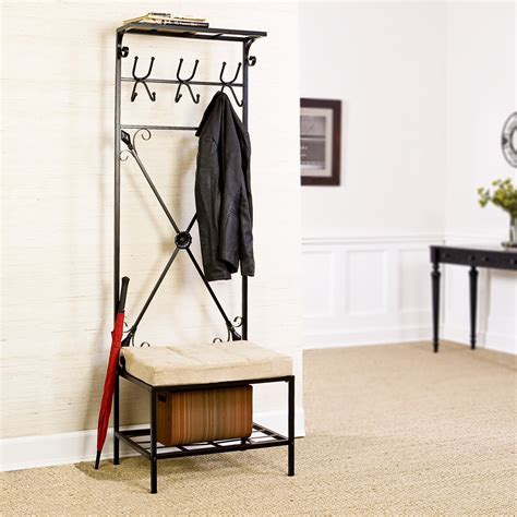 entryway benches with storage and coat rack home coat rack and storage bench oasis amor fashion