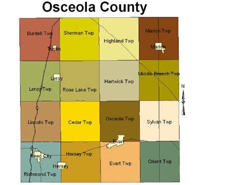Osceola County Search Osceola County Mi Map Images