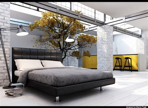 Black Grey Yellow Bedroom Panda S House