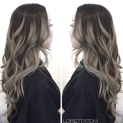 ash gray highlights on brown hair image gallery hair color ash gray