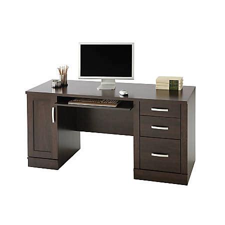 credenza home depot sauder office port computer credenza dark alder by office