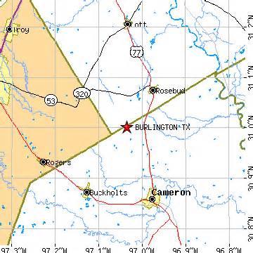burlington texas map burlington texas tx population data races housing economy
