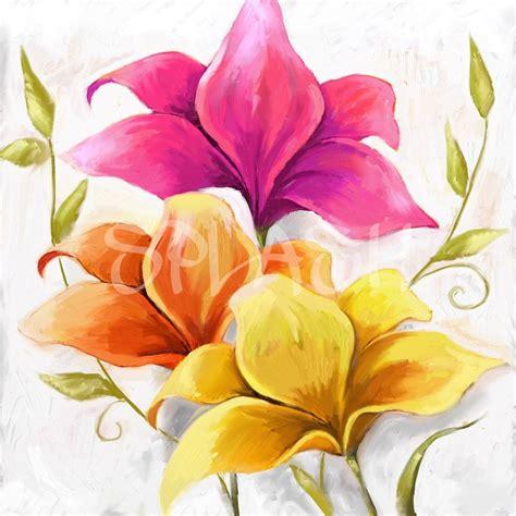 cuadros al oleo de flores modernos cuadro de flores de colores tiendas de cuadros modernos