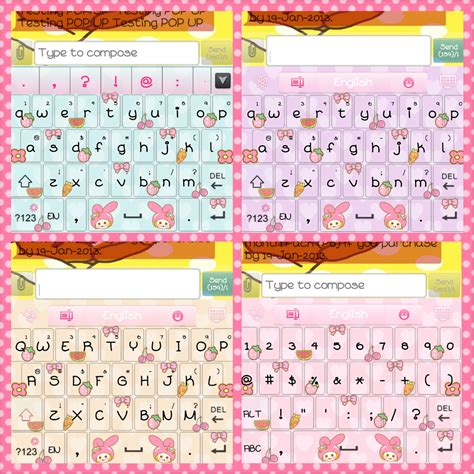 themes and keyboard my melody go keyboard skins android themes