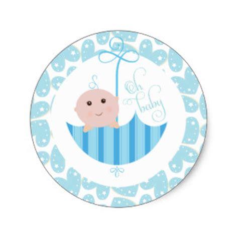 Shower Stickers by Baby Boy Oh Baby Shower Umberella Sticker