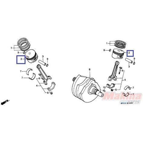 Piston Only Rc110 Size 025 13102mv1305 piston 0 25 oversize honda xrv 750