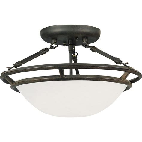 Maxim Lighting Stratus 3 Light Bronze Semi Flush Mount 3 Light Semi Flush Mount Ceiling Fixture