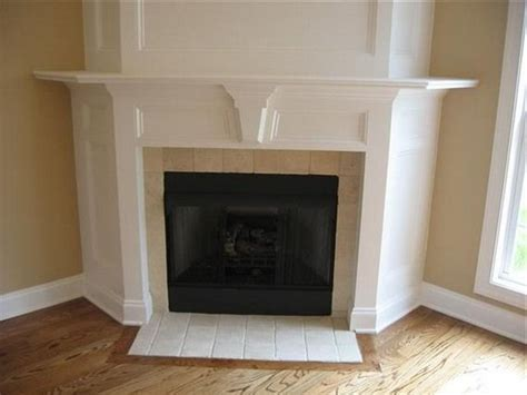white corner fireplace for the home