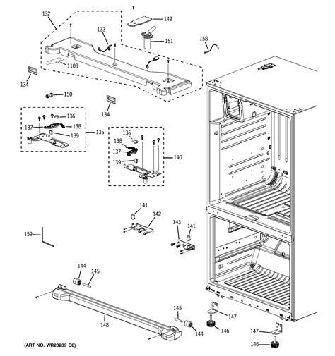 ge refrigerator diagram refrigerator parts ge refrigerator parts diagram