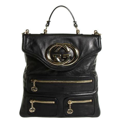 Gucci Britt Zip Pocket Messenger Bag by Gucci Calfskin Britt Messenger Bag Black 105052