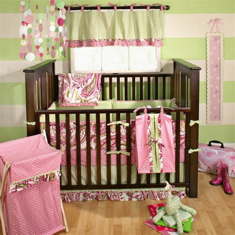 My Baby Sam Paisley Splash In Pink Baby Bedding Collection My Baby Sam Crib Bedding