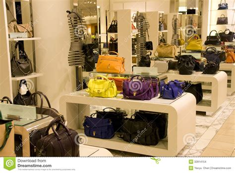 The Purse Store Designer Shoe Sale by Handbag Purse Department Store Stock Photo Image 32814154