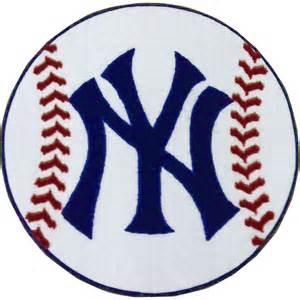 New york yankees baseball rug mlb round accent floor mat