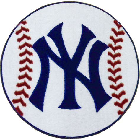 mlb new york yankees accent shaped carpet baseball rug
