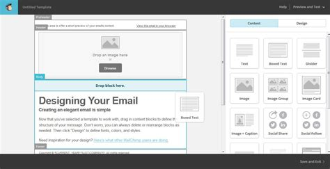The Beginner S Guide To Using Mailchimp For Email Marketing Mailchimp Drag And Drop Custom Template