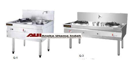 Kompor Wok aneka utama indah stainless steel gas kwali range