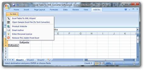 Excel Spreadsheet To Xml by Excel Table To Xml Converter Software