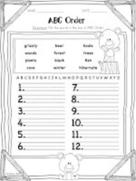 Abc Order Worksheets For 1st Grade by 14 Best Images Of Abc Order Letters Worksheets Printable Abc Order Worksheets Alphabetical