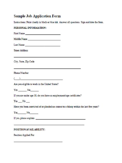 application form template pdf application form template word free application form
