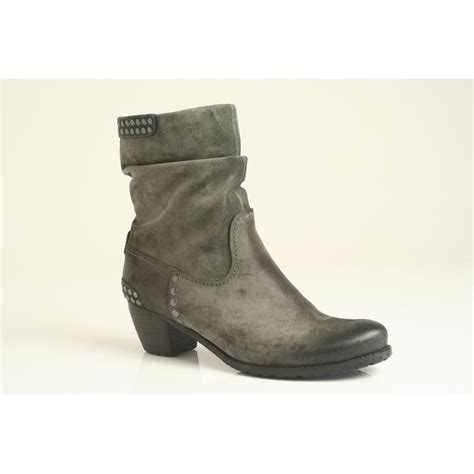 kennel schmenger grey suede leather ankle boot with stud