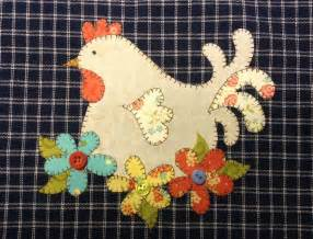 hen applique pattern by quilt doodle craftsy