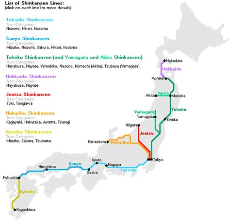 shinkansen map shinkansen japanese bullet