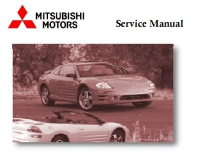 service manual car engine manuals 2006 mitsubishi eclipse user handbook sell used 2006