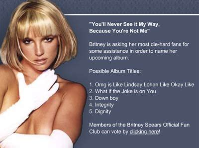Invites Fans To Vote On Album Titles by June 2007 Paparazzithis News