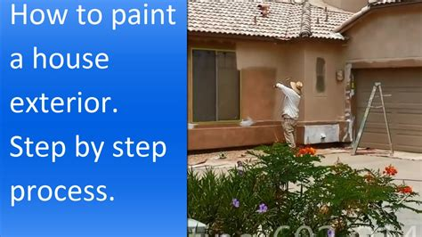 how to paint a house how to paint exterior of a stucco house youtube