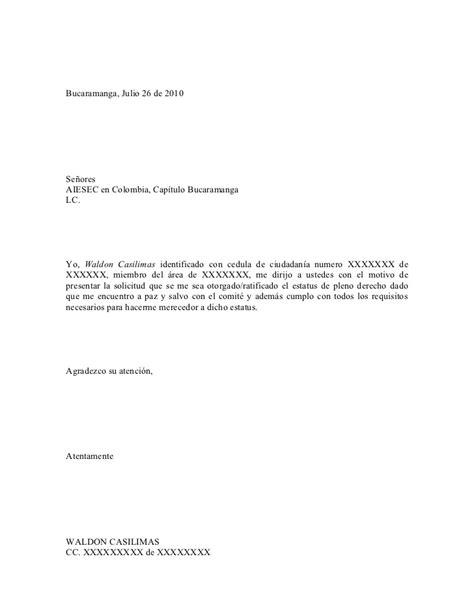 modelos de cartas modelos de cartas de solicitud bu carta de solicitud de pleno derecho
