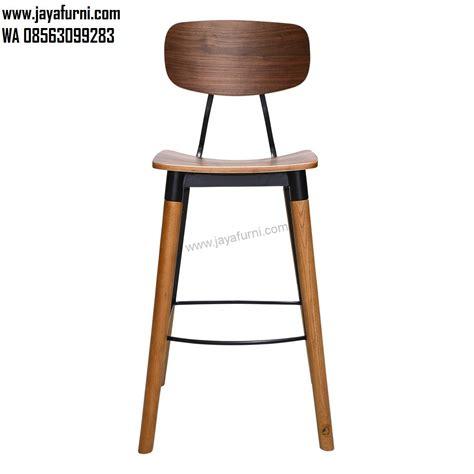 Kursi Mini Bar Kayu kursi bar kayu kaki besi industrial design jayafurni