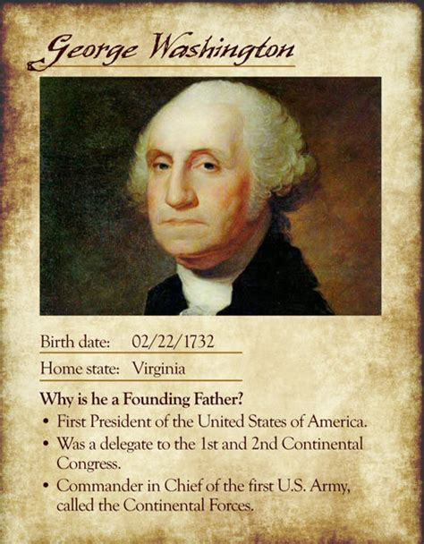 biography george washington founding father founding father cards marlar house productions